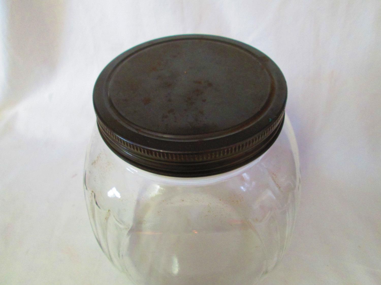 1940u0027s Art Deco Style Kitchen Storage Jar marbles treats cookies collectible display tv movie prop farmhouse & 1940u0027s Art Deco Style Kitchen Storage Jar marbles treats cookies ...