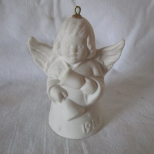 1986 Goebel ANGEL BELL ORNAMENT White with Bells  West Germany Signed