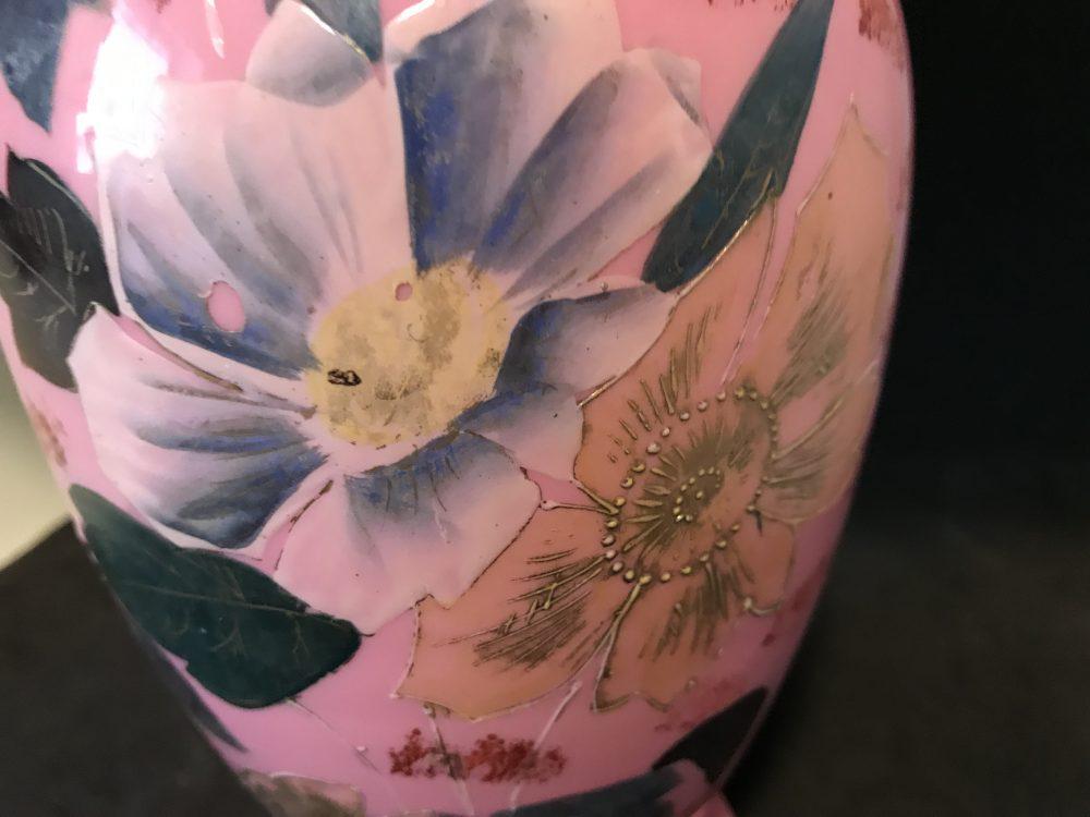 Antique Pink Encased Glass Vase Carols True Vintage And Antiques