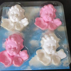 Angel Baby Vintage Guest Soaps Pink and white Smell Fantastic shabby chic collectible bed & breakfast cottage farmhouse home bathroom