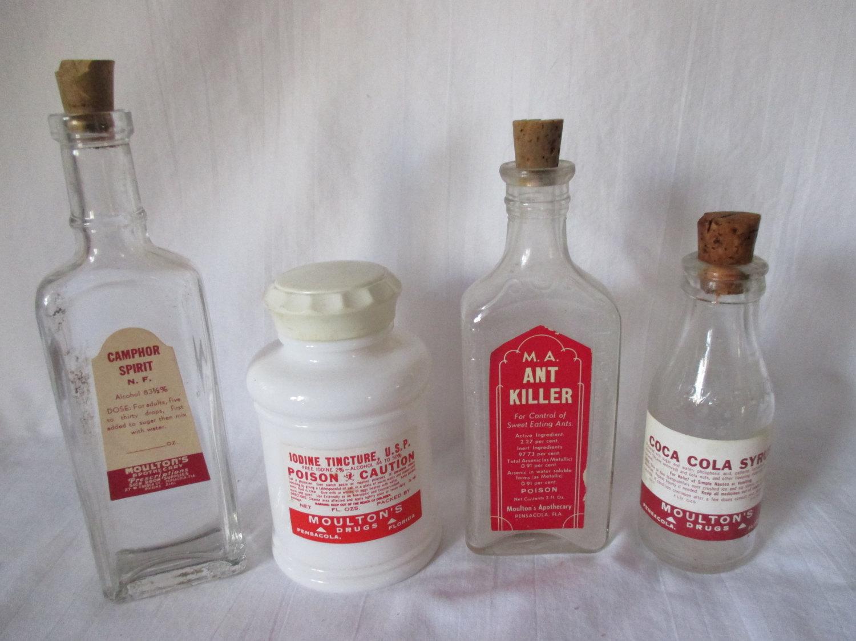 Very best Antique Apothecary Pharmacy Medical Poison Bottles Ant Killer  DM38