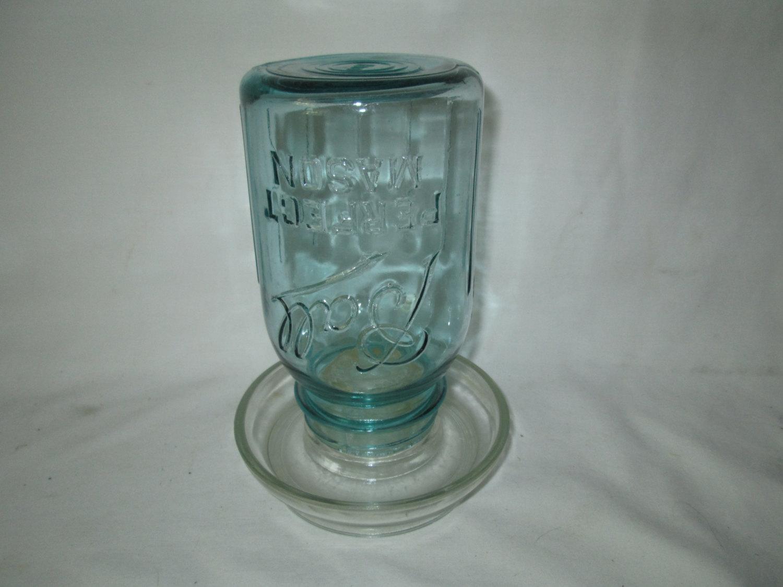 Ball Jar glass base Chicken Feeder | Carol\'s True Vintage and Antiques