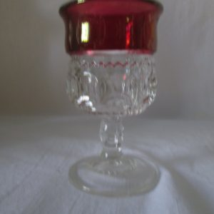 Antique Beautiful Red Flash Glass Kings Crown Cordial Mint Condition Turn of the century