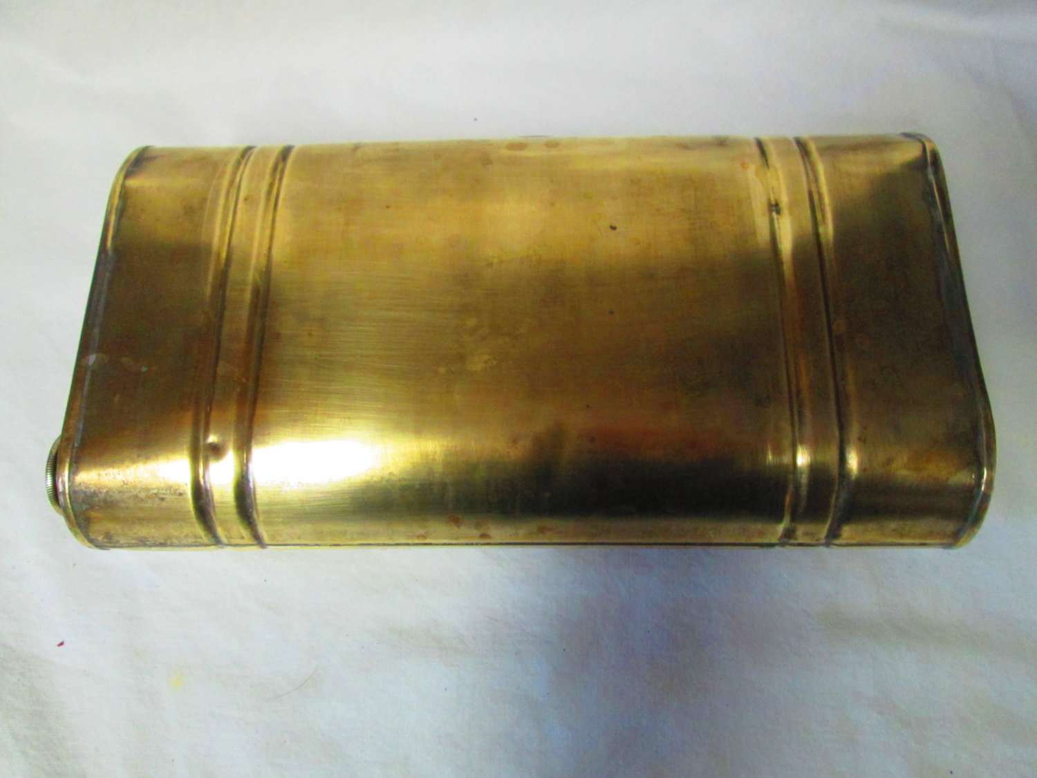 Antique Brass Buggy Foot Warmer Box bed collectible display medical ...