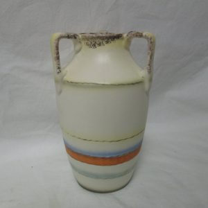 Antique Erphila Germany Tall Vase Vessel 3 Handle Vase Mid West Style 1940's