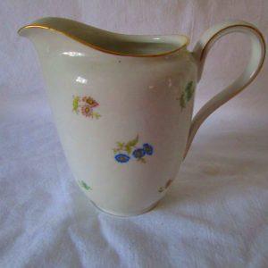 Antique Fine bone china Rosenthal pitcher creamer Petite Flowers Gold trim US Zone