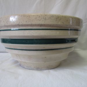 "Antique heavy Pottery Crock  Mixing Bowl 6"" tall 11"" across Perfect for making Christmas Cookies"