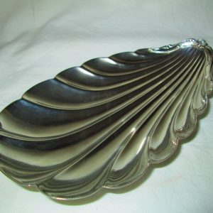 Antique Hotel Silver Mid-Century Modern Hollenden Beautiful Shell Dish Great Condition