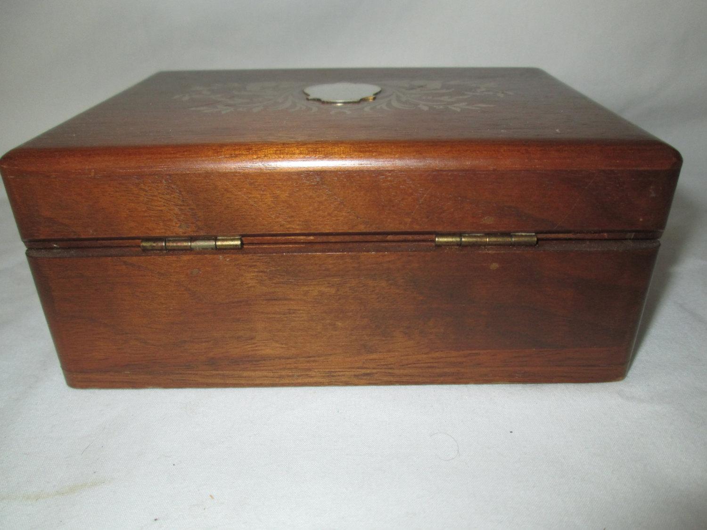 Antique Locking Velvet lined Box Carols True Vintage and Antiques