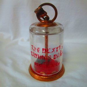 Antique The Dexters Savings Bank Copper and Glass with Small lock no key