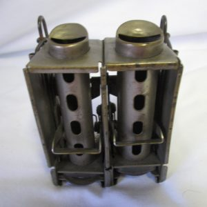 Antique Vintage Johnson Fare Box Co. Metal Coin Changer 2 Roll Slots w/belt loops Working Condition USA Chicago Pat. 1465409