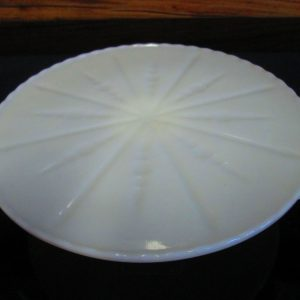 Antique white milk glass footed cake plate