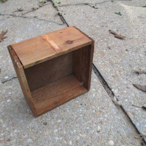 Antique wooden box small garage storage decor display box