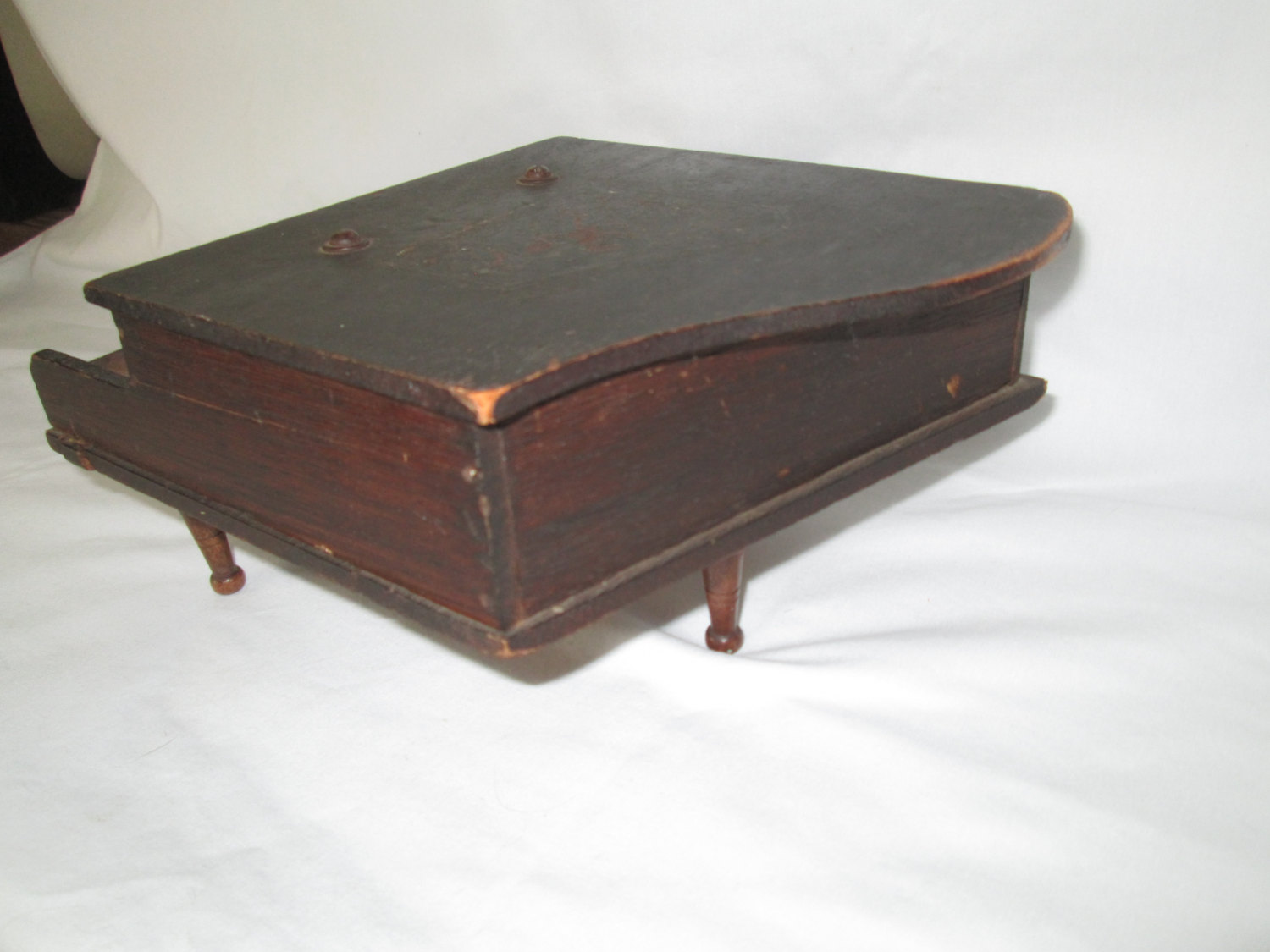Antique Wooden Childs Play Piano All Keys Work Box And Collectible Display Tv Movie