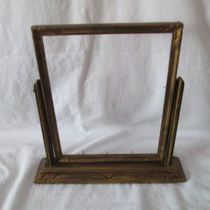 Antique Wooden Frame on Stand Swings Art Deco Pattern