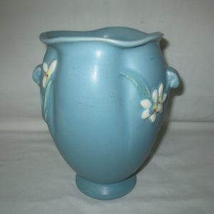 Beautiful Antique Large Weller Pottery Vase with Flowers Great Condition F-5 Signed Weller