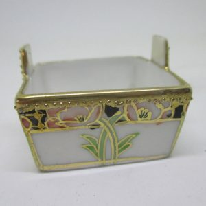 Beautiful Antique Open Salt Fine bone china highly decorated Hand painted Nippon salt cellar