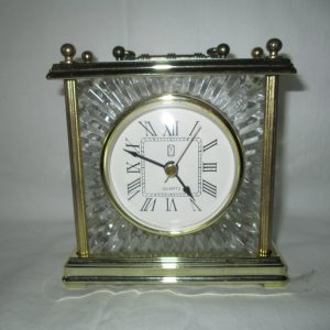 Beautiful brass and crystal working carriage clock Quartz Bedside clock PS Germany brand Mantle Desk Dresser Home Decor