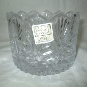 Beautiful Fifth Avenue Crystal Champagne Wine Holder Poland with Original Tag Unused No Damage