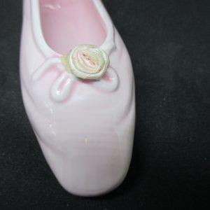 Beautiful Porcelain Ballerina Slipper Pink with pink rose wall pocket wall decor ballet shoe