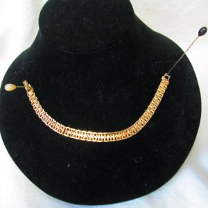 Beautiful Vintage Napier Gold tone Bracelet Links Ornate design Mid Century Japan
