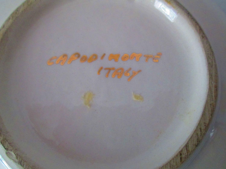 Decorative Small Capodimonte Italian Plate Wall hanging or pin dish ...