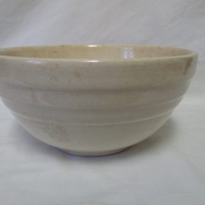 """Fantastic Early 1900's Pottery Mixing bowls with No chips or Cracks 9 1/2"""" across 5"""" tall Mixing or Antique Decor"""