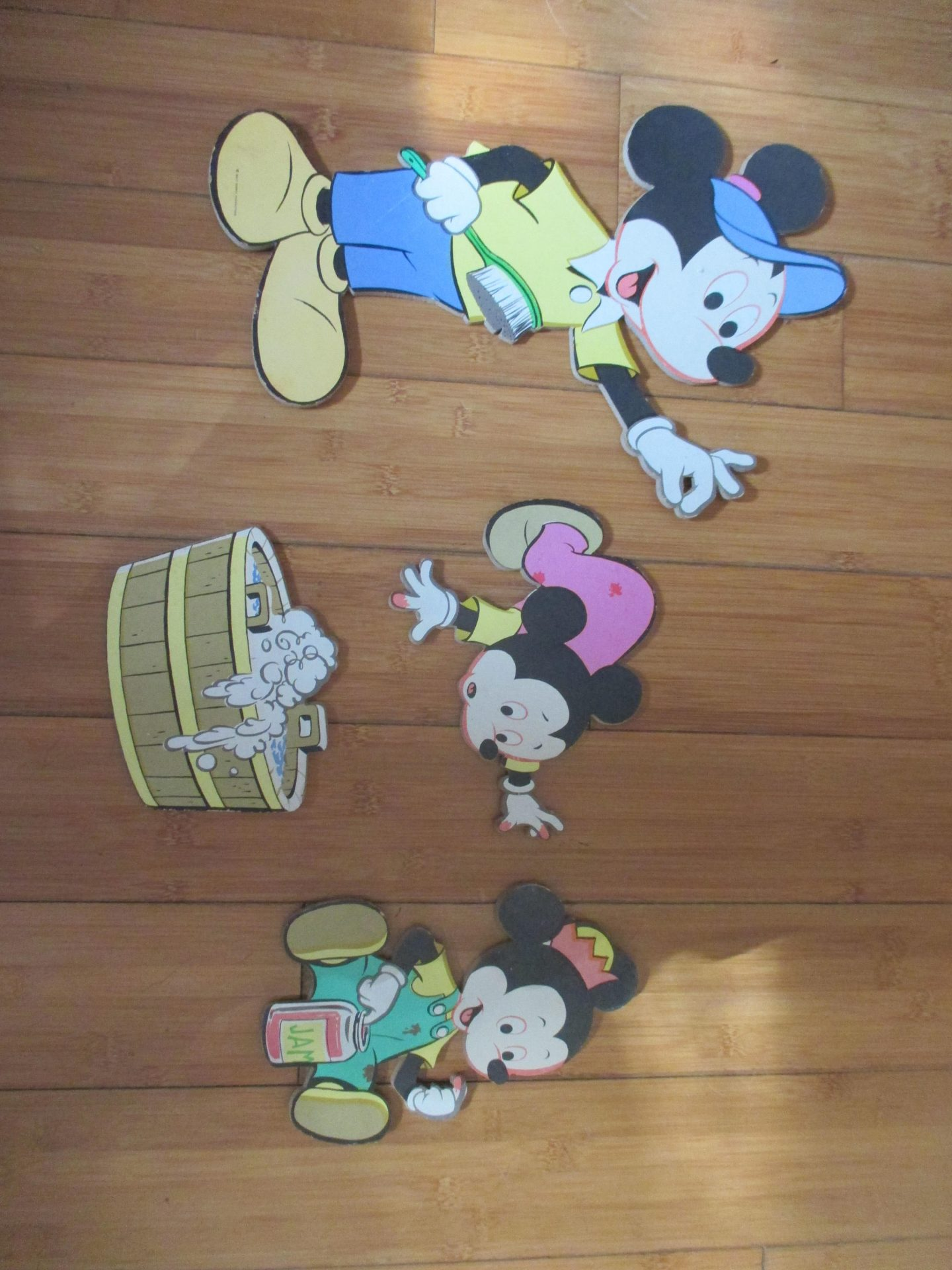 Fantastic Wall Hanging Child Baby Room Mickey With Kid Mid