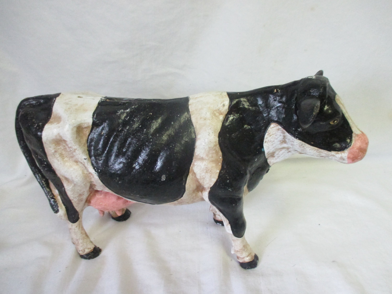 Large Heavy Cast Iron Cow Dairy Farm Animal Country Decor Doorstop Statue  Display Kitchen Decor Farmhouse