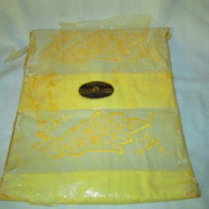 New Old Stock Vintage Pillowcase pair in original packaging Yellow with Embroidery Progress Quality Pillow Cases
