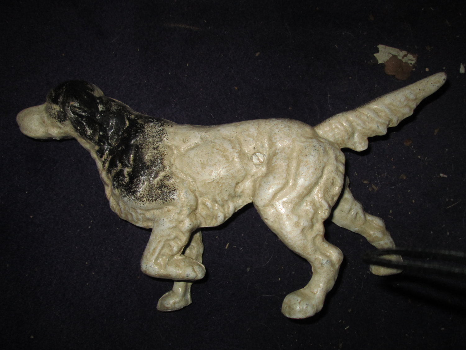 Vintage Cast Iron Pointer Hunting Dog Door Stop Doorstop Original Paint And  Patina Large Display Decor