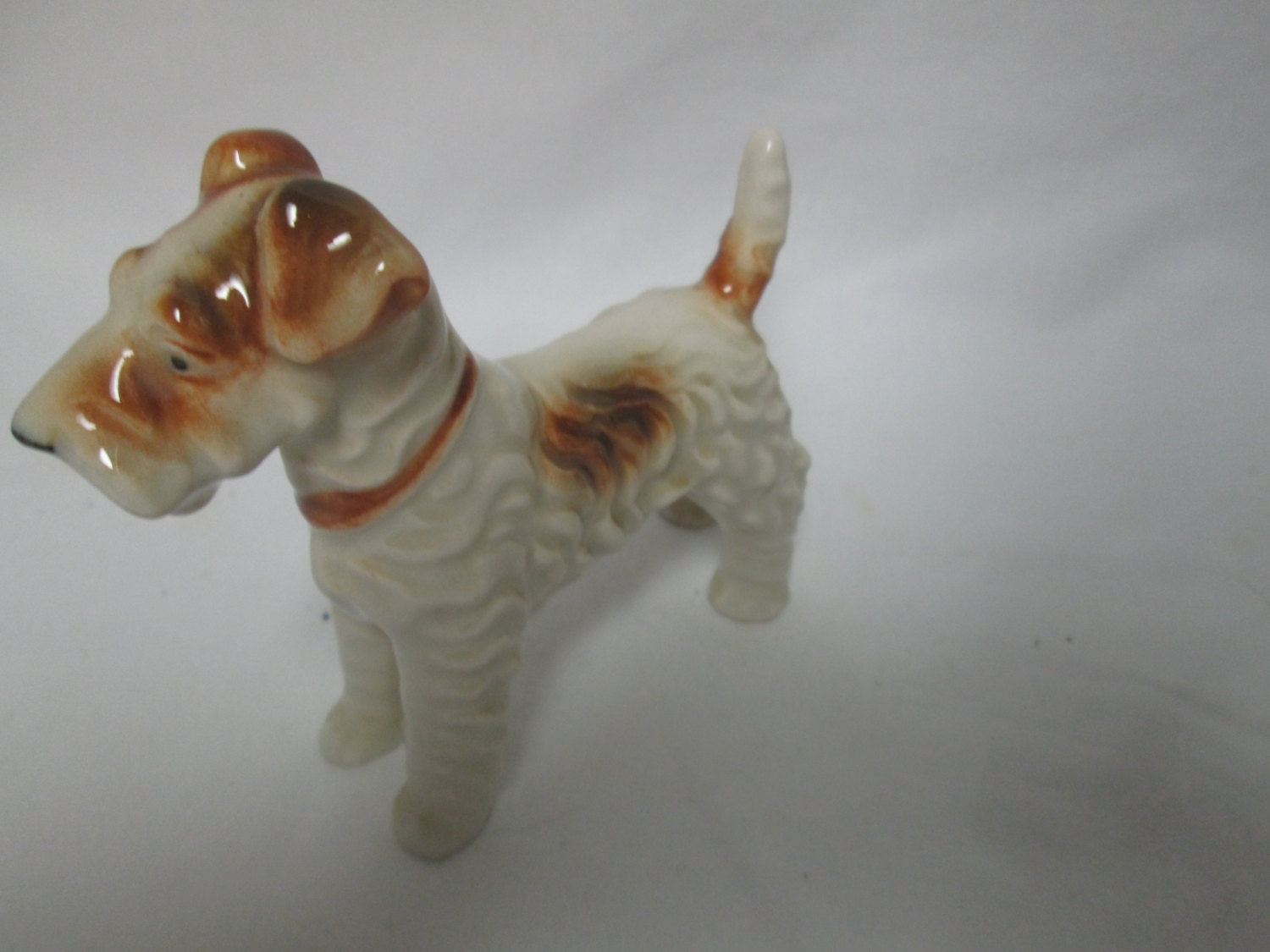 Vintage Dog figurine fine china Japan Mid Century 3 1/2\