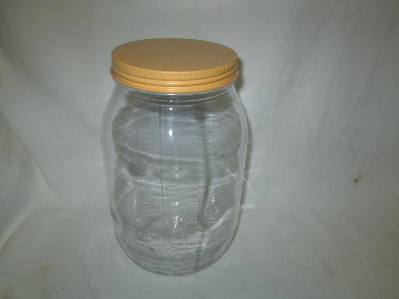 Vintage Glass Kitchen Storage Jar Bottle Canister Kraft Foods