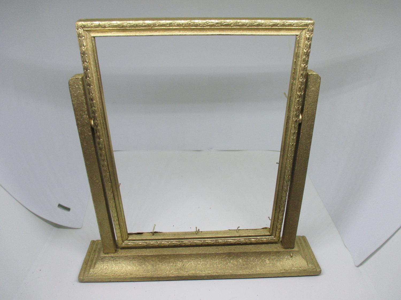 Vintage Gold Wooden Standing Picture Frame Art Deco Art Nouveau Era