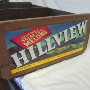 Vintage Hillview California Melons Crate Great Condition Vintage wooden storage crate box garden garage decor