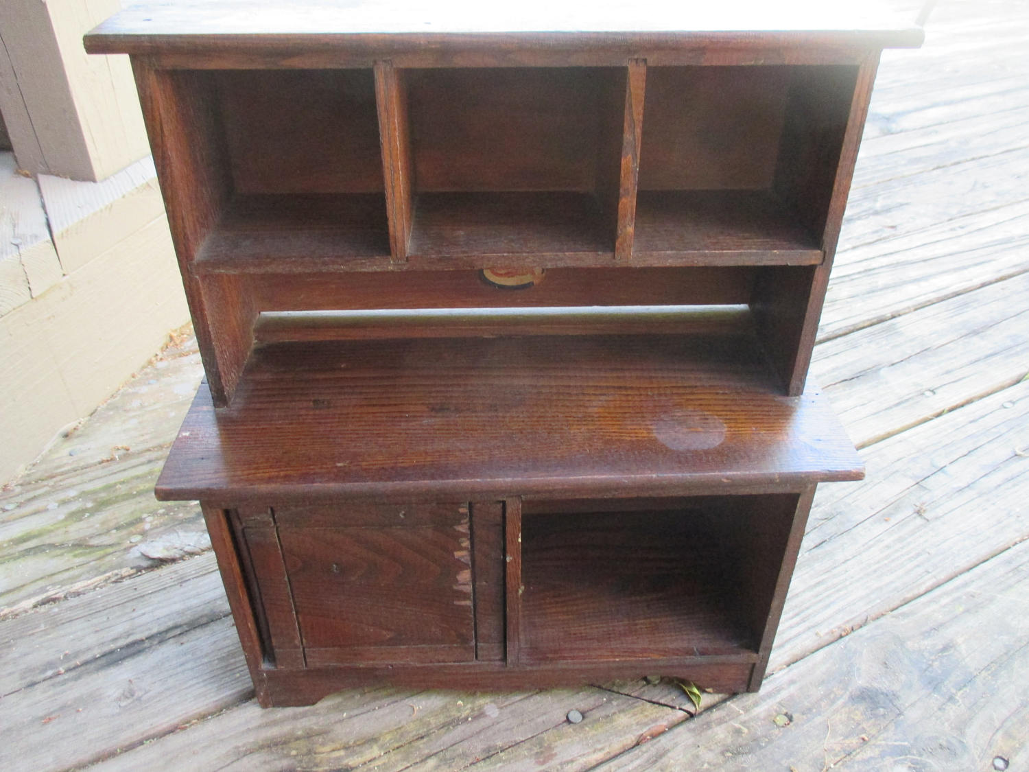 Vintage kitchen hutch cabinet Cass Toys Wooden Miniature home collectible  wood cupboard sideboard rustic primitive farmhouse - Vintage Kitchen Hutch Cabinet Cass Toys Wooden Miniature Home