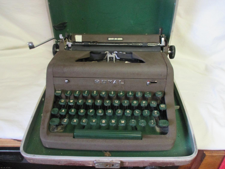 Adler royal scrittore portable manual typewriter.
