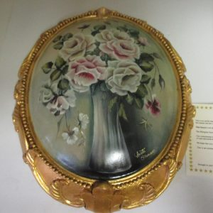 VINTAGE ORIGINAL Annette Stevenson Oil Light Yellow pink white roses with COA 324/2000 Victoria Australia Victorian style Artwork
