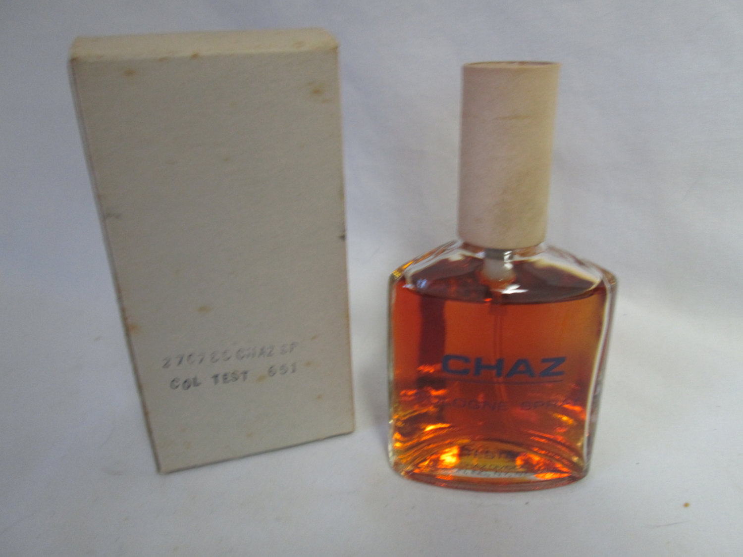 vintage original chaz for men cologne 4 oz tester spray. Black Bedroom Furniture Sets. Home Design Ideas