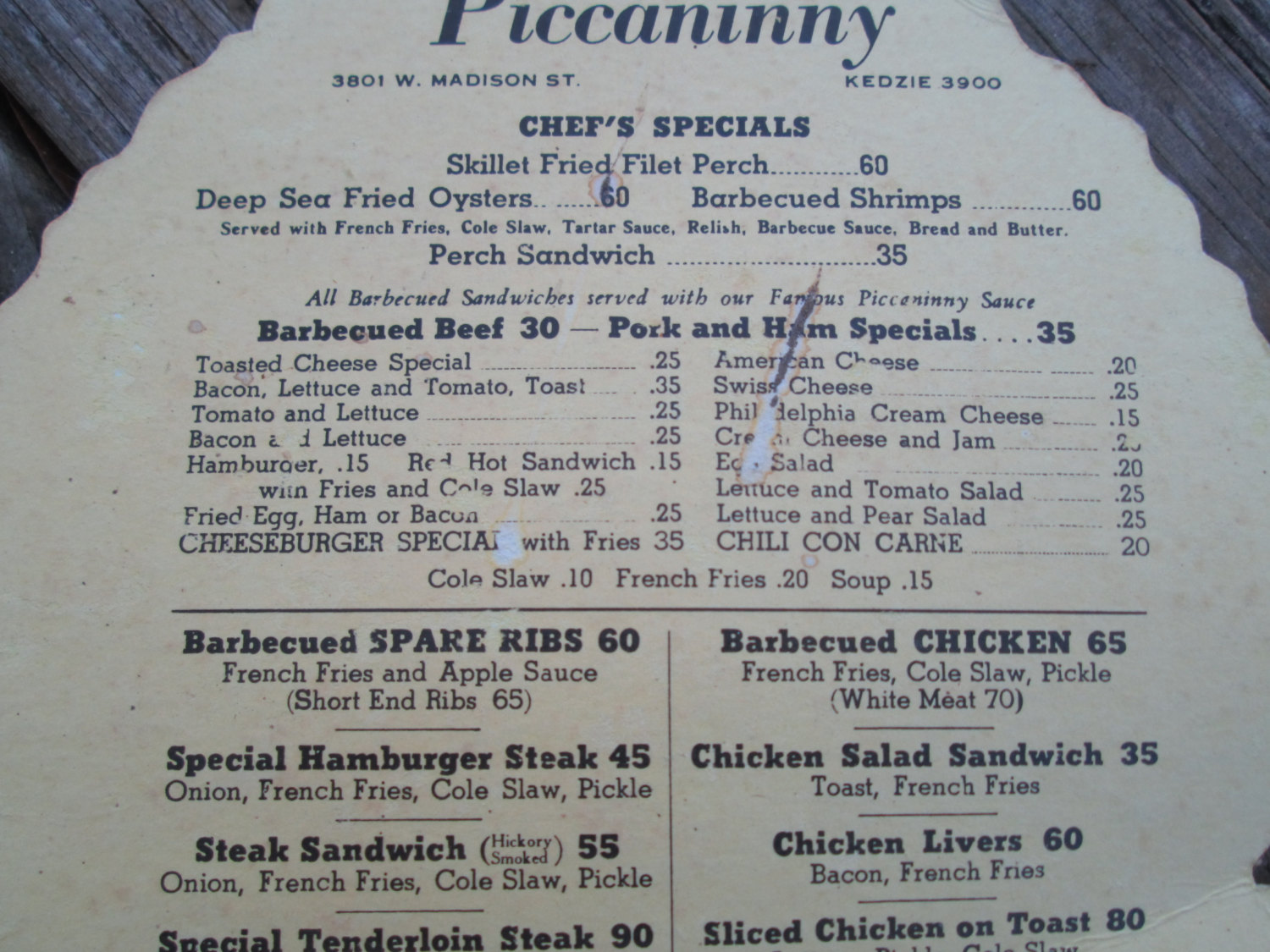 Vintage Piccaninny Restaurant Menu Face Fan Black Americana Menu Fan Chicago Madison Ave. 1930's Collectibles