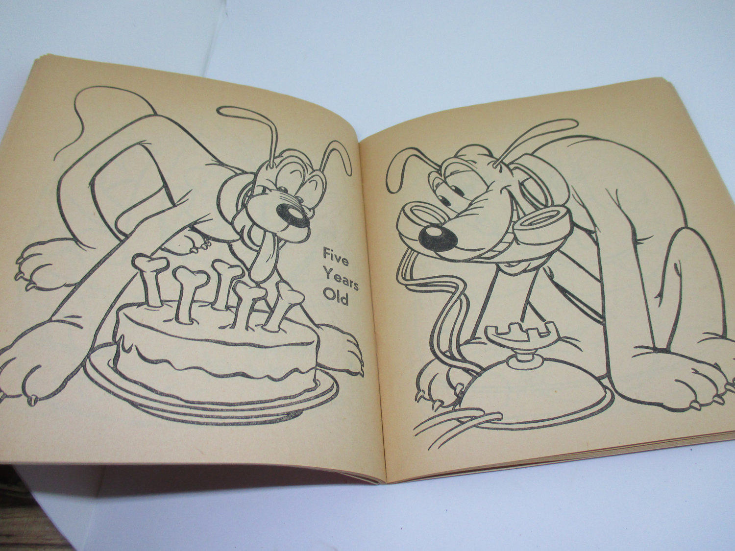 Vintage Pluto Disney Coloring book 1955 Walt Disney Productions ...