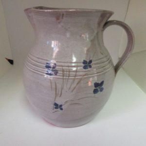 Vintage Salt Glazed Pottery Pitcher water iced tea lemonaid milk Seagrove N.C. made in USA