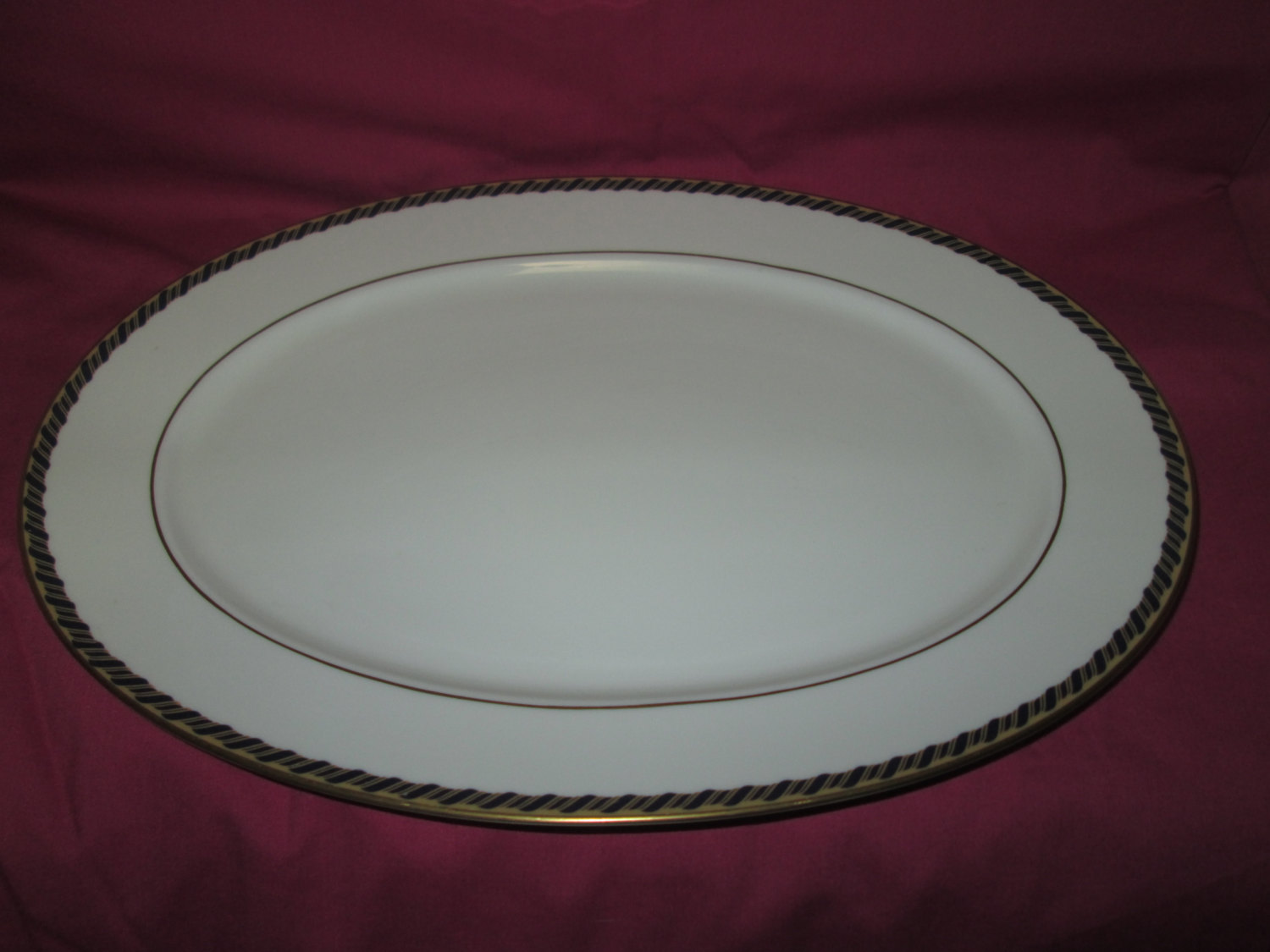 Vintage Samantha Lenox Fine Bone China Platter 14x10 Made In An