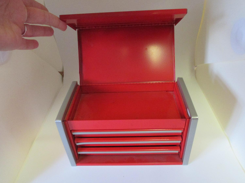 Vintage Snap On Tool Box Micro Mini Red Desktop Office