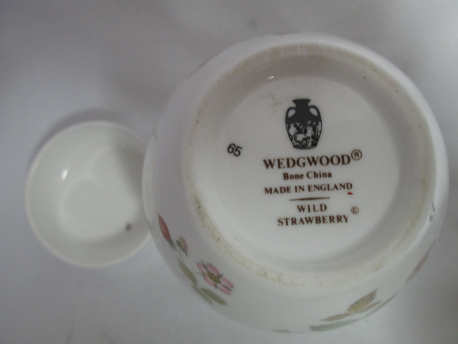 Vintage Wedgwood Ginger Jar With Lid Strawberry Pattern With Flowers
