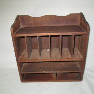 Vintage Wooden Organization Letter Desktop Storage box Mid Century office orginization collectible display tv movie prop farmhouse cottage