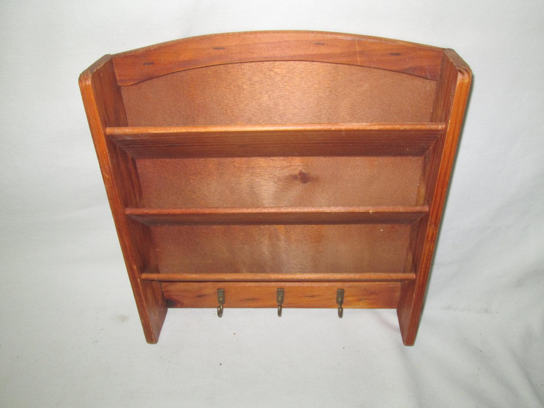 Vintage Wooden Organization Letter Wall hanging desk type Storage box Mid  Century Key holder