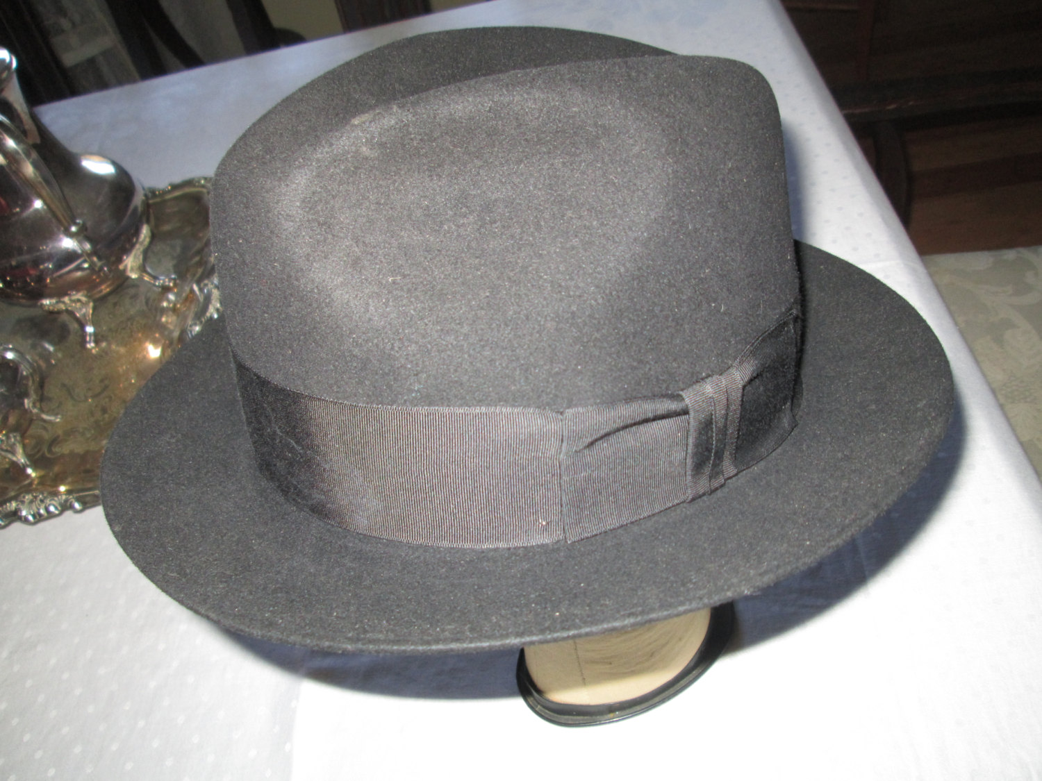 Vintage Wool Stetson Hat in original box Men s Fedora Hat USA size 7 ... 83017f6aa4a