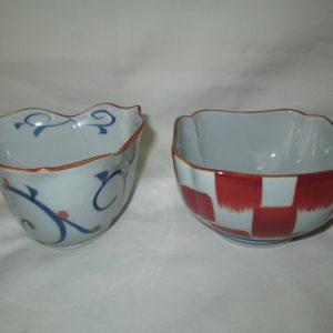 Vintage WWII Era Japanese signed rice bowls Porcelain