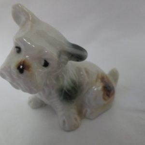 "Vintage Yorkshire Terrier Dog figurine fine china Japan Mid Century 3 1/2"" across 3"" tall nice piece"
